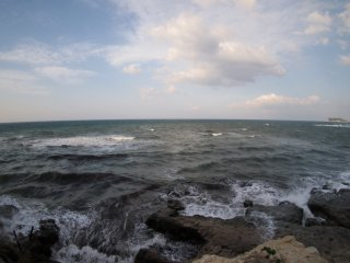 2017/4/15 南風吹き荒れる週末の稲村ヶ崎、動くものは何もなく