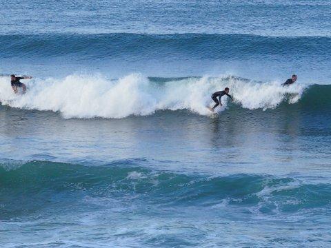2018/6/19 ツバメ舞う青い空、通勤前のサーファー達が続々集まる潮騒の浜